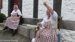 Women drop spinning wool Fortress of Louisbourg