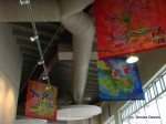 Hanging fabric art
