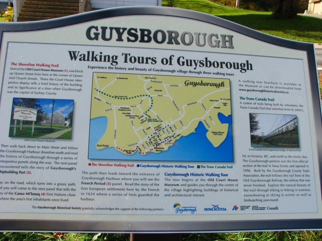 Walking tours of Guysborough