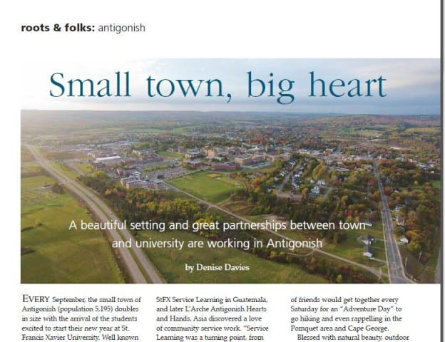 Antigonish Small Town Big Heart