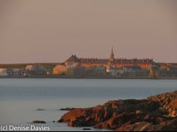 Louisbourg sunset view of Fortress