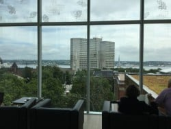 Halifax library view from 5th floor reading area