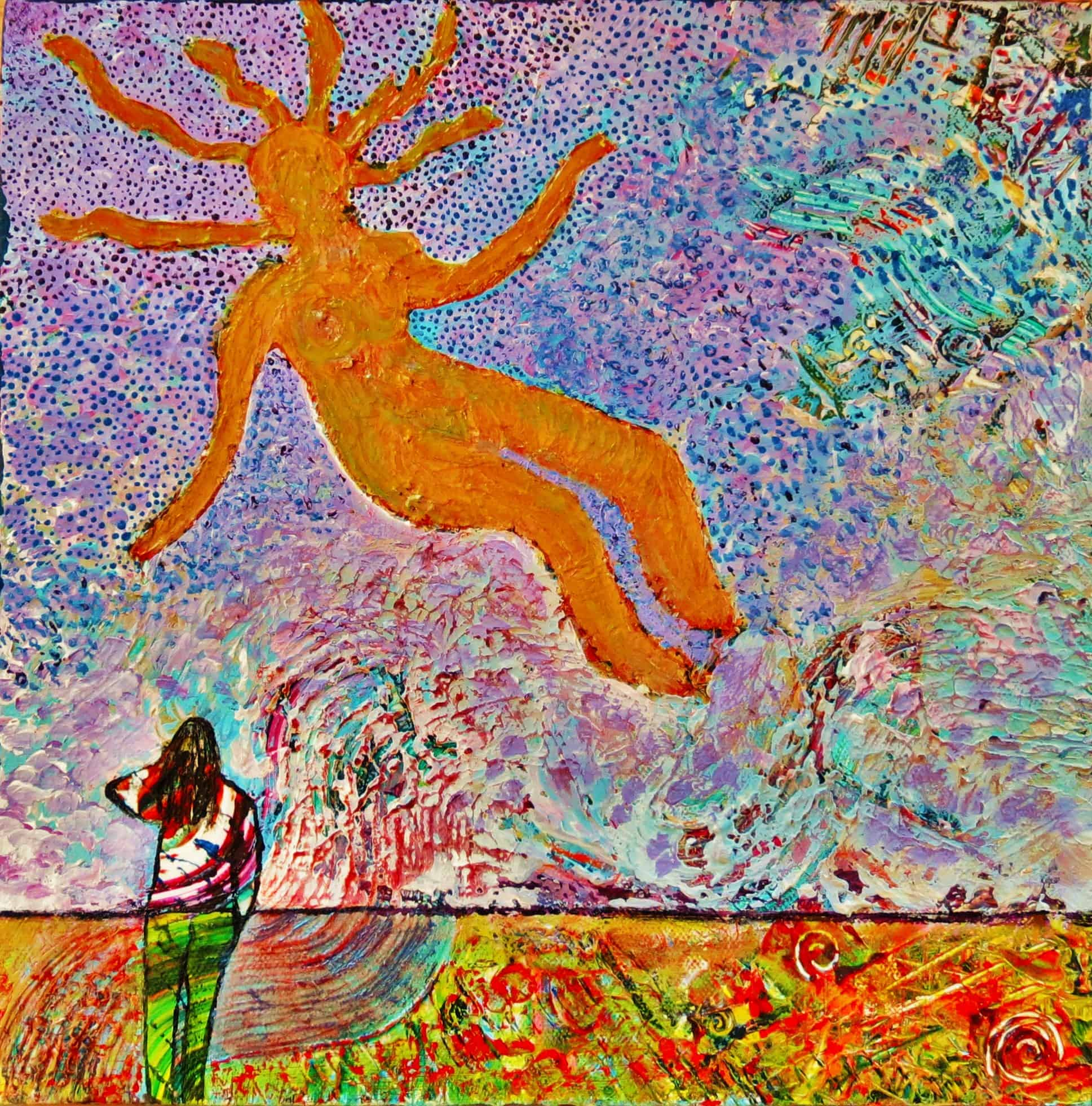 Sun Goddess  Acrylic on canvas