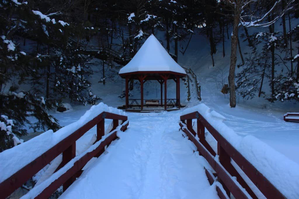 The Holy Well Gazebo is a popular place for wedding photos and summer picnics