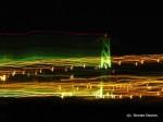 Halifax McDonald Bridge at night from the ferry