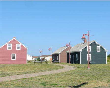 Recreation of company houses at Cape Breton Miners Museum, Glace Bay