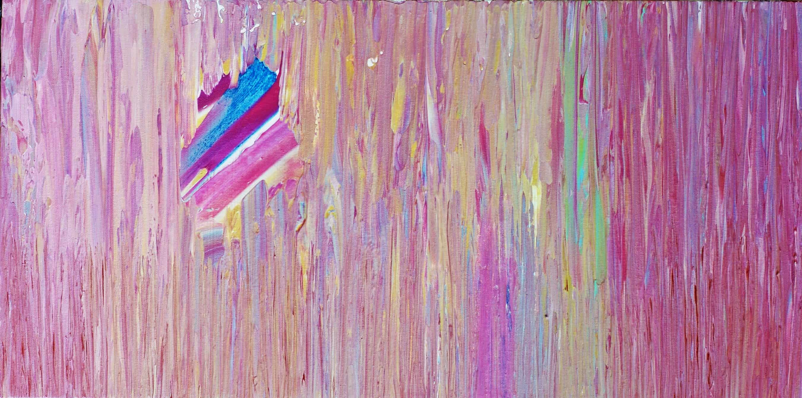 Dripping in Pink Acrylic on canvas