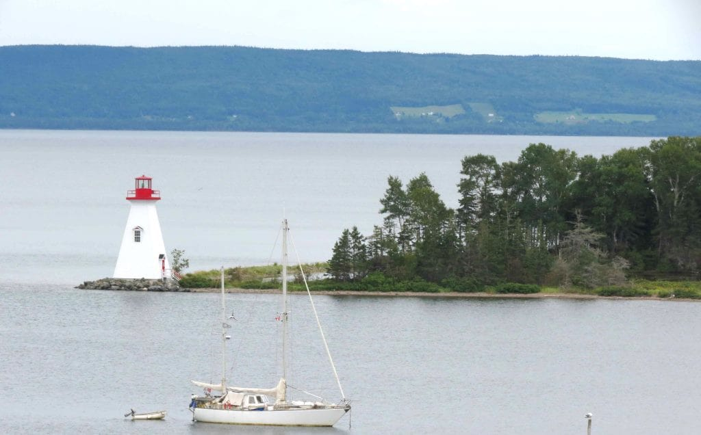View of Kidston Island from Alexander Graham Bell Museum