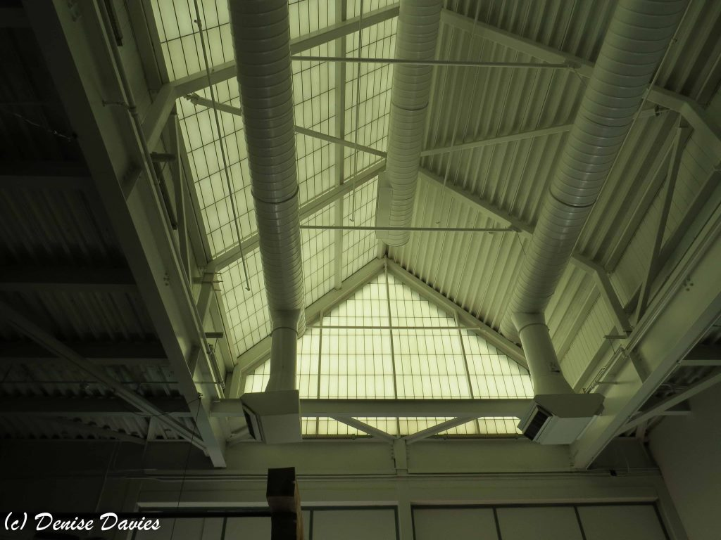Translucent museum roof in the style of factory roof to let in light